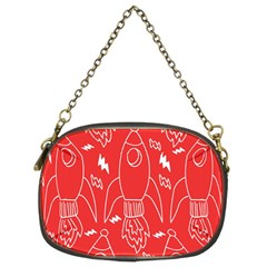 Moon Red Rocket Space Chain Purses (Two Sides)