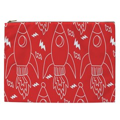 Moon Red Rocket Space Cosmetic Bag (XXL)
