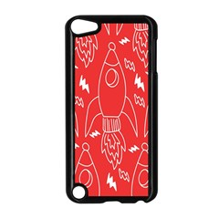Moon Red Rocket Space Apple iPod Touch 5 Case (Black)