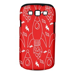 Moon Red Rocket Space Samsung Galaxy S III Classic Hardshell Case (PC+Silicone)