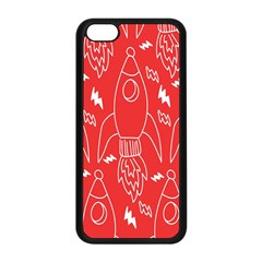 Moon Red Rocket Space Apple iPhone 5C Seamless Case (Black)