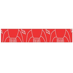 Moon Red Rocket Space Flano Scarf (Large)