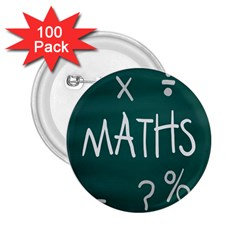 Maths School Multiplication Additional Shares 2.25  Buttons (100 pack)