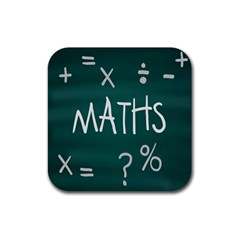 Maths School Multiplication Additional Shares Rubber Coaster (Square)