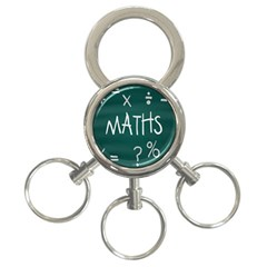 Maths School Multiplication Additional Shares 3-Ring Key Chains