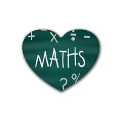 Maths School Multiplication Additional Shares Rubber Coaster (Heart)