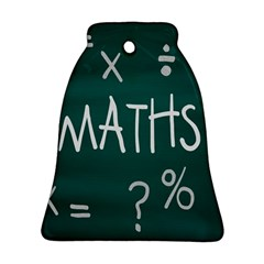 Maths School Multiplication Additional Shares Bell Ornament (Two Sides)