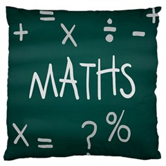 Maths School Multiplication Additional Shares Large Cushion Case (One Side)