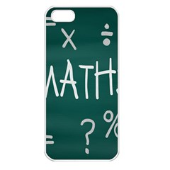 Maths School Multiplication Additional Shares Apple iPhone 5 Seamless Case (White)