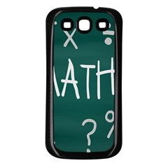 Maths School Multiplication Additional Shares Samsung Galaxy S3 Back Case (black)