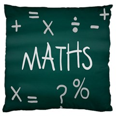 Maths School Multiplication Additional Shares Large Flano Cushion Case (One Side)