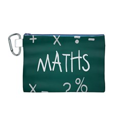 Maths School Multiplication Additional Shares Canvas Cosmetic Bag (M)