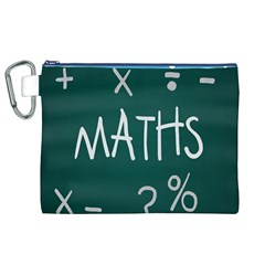 Maths School Multiplication Additional Shares Canvas Cosmetic Bag (XL)