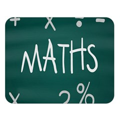 Maths School Multiplication Additional Shares Double Sided Flano Blanket (Large)