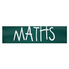 Maths School Multiplication Additional Shares Satin Scarf (Oblong)