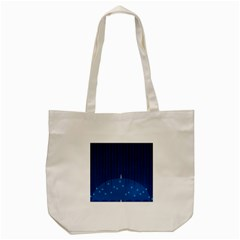 Rain Blue Sky Water Black Line Tote Bag (cream)