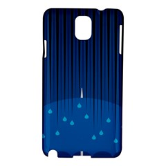 Rain Blue Sky Water Black Line Samsung Galaxy Note 3 N9005 Hardshell Case