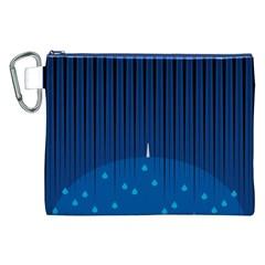 Rain Blue Sky Water Black Line Canvas Cosmetic Bag (XXL)