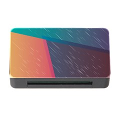 Modern Minimalist Abstract Colorful Vintage Adobe Illustrator Blue Red Orange Pink Purple Rainbow Memory Card Reader with CF