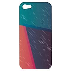 Modern Minimalist Abstract Colorful Vintage Adobe Illustrator Blue Red Orange Pink Purple Rainbow Apple iPhone 5 Hardshell Case