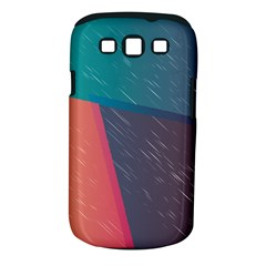 Modern Minimalist Abstract Colorful Vintage Adobe Illustrator Blue Red Orange Pink Purple Rainbow Samsung Galaxy S III Classic Hardshell Case (PC+Silicone)