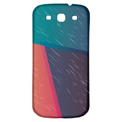 Modern Minimalist Abstract Colorful Vintage Adobe Illustrator Blue Red Orange Pink Purple Rainbow Samsung Galaxy S3 S Iii Classic Hardshell Back Case