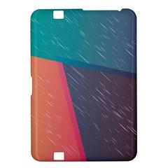 Modern Minimalist Abstract Colorful Vintage Adobe Illustrator Blue Red Orange Pink Purple Rainbow Kindle Fire HD 8.9