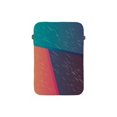 Modern Minimalist Abstract Colorful Vintage Adobe Illustrator Blue Red Orange Pink Purple Rainbow Apple iPad Mini Protective Soft Cases