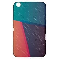 Modern Minimalist Abstract Colorful Vintage Adobe Illustrator Blue Red Orange Pink Purple Rainbow Samsung Galaxy Tab 3 (8 ) T3100 Hardshell Case