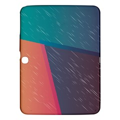 Modern Minimalist Abstract Colorful Vintage Adobe Illustrator Blue Red Orange Pink Purple Rainbow Samsung Galaxy Tab 3 (10 1 ) P5200 Hardshell Case