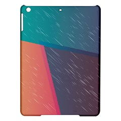 Modern Minimalist Abstract Colorful Vintage Adobe Illustrator Blue Red Orange Pink Purple Rainbow iPad Air Hardshell Cases