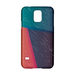 Modern Minimalist Abstract Colorful Vintage Adobe Illustrator Blue Red Orange Pink Purple Rainbow Samsung Galaxy S5 Hardshell Case