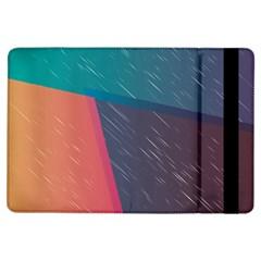 Modern Minimalist Abstract Colorful Vintage Adobe Illustrator Blue Red Orange Pink Purple Rainbow iPad Air Flip