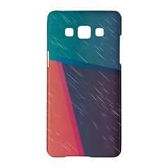 Modern Minimalist Abstract Colorful Vintage Adobe Illustrator Blue Red Orange Pink Purple Rainbow Samsung Galaxy A5 Hardshell Case