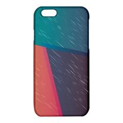 Modern Minimalist Abstract Colorful Vintage Adobe Illustrator Blue Red Orange Pink Purple Rainbow iPhone 6/6S TPU Case