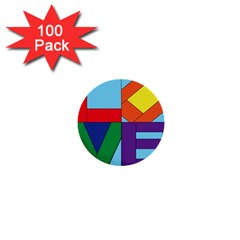 Rainbow Love 1  Mini Buttons (100 pack)