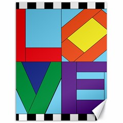 Rainbow Love Canvas 18  x 24