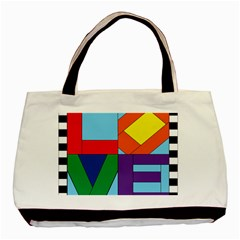 Rainbow Love Basic Tote Bag (Two Sides)