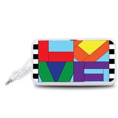 Rainbow Love Portable Speaker (White)
