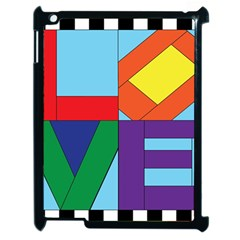 Rainbow Love Apple iPad 2 Case (Black)