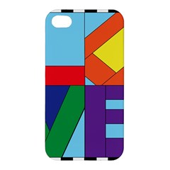 Rainbow Love Apple iPhone 4/4S Hardshell Case