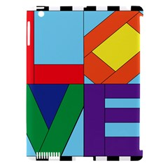 Rainbow Love Apple iPad 3/4 Hardshell Case (Compatible with Smart Cover)