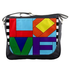 Rainbow Love Messenger Bags