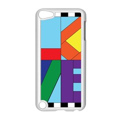 Rainbow Love Apple iPod Touch 5 Case (White)
