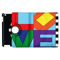 Rainbow Love Apple iPad 3/4 Flip 360 Case