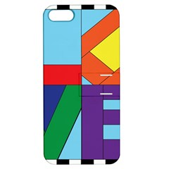 Rainbow Love Apple iPhone 5 Hardshell Case with Stand