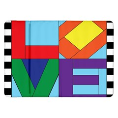 Rainbow Love Samsung Galaxy Tab 8.9  P7300 Flip Case