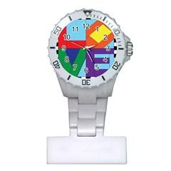 Rainbow Love Plastic Nurses Watch