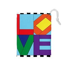 Rainbow Love Drawstring Pouches (Medium)