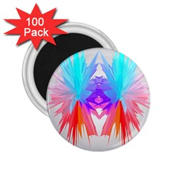 Poly Symmetry Spot Paint Rainbow 2.25  Magnets (100 pack)